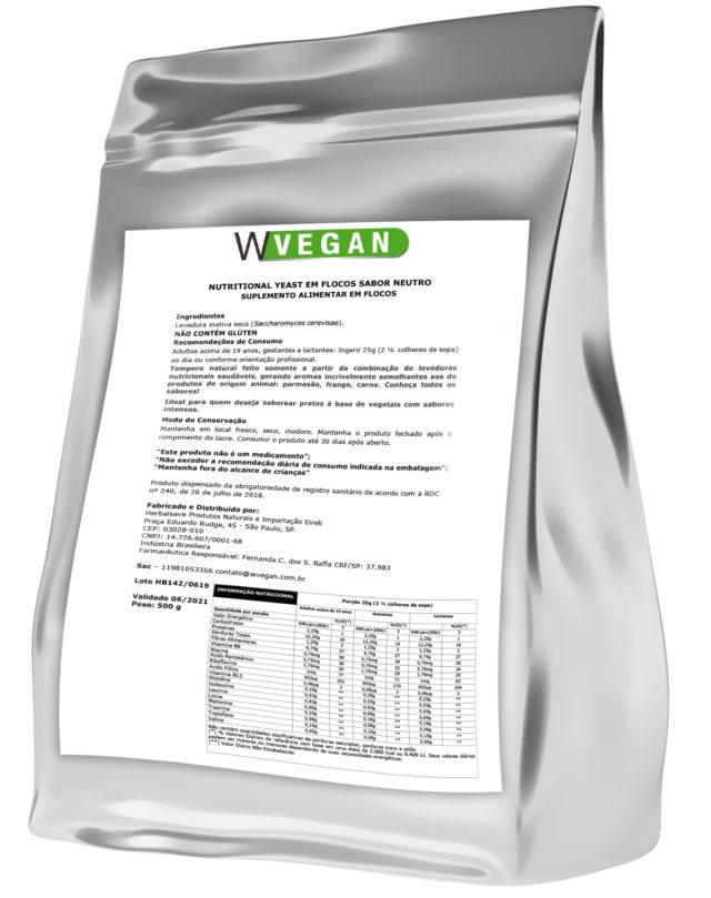 Nutritional Yeast em Flocos 500 gramas