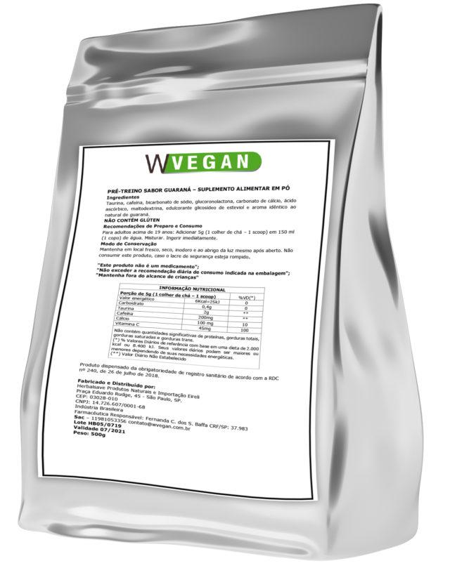 Pre Treino Vegan 500g