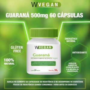 Guarana 500mg 60 capsulas